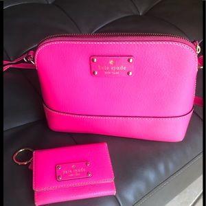 Kate Spade Hanna crossbody purse and Darla Wallet